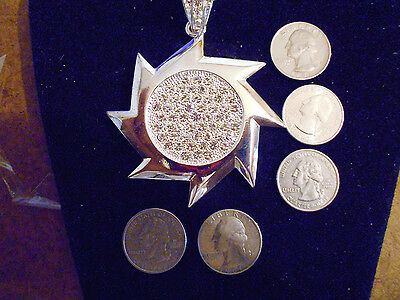 bling silver plated big SUN FASHION JEWELRY PENDANT Charm hip hop chain Necklace