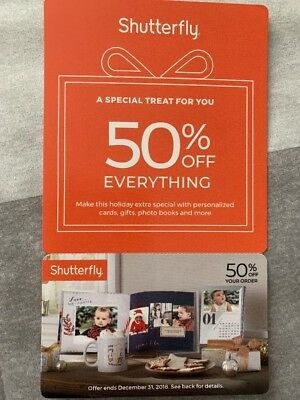 Shutterfly 50% Off Promo Coupon Code Exp 12/31/2018