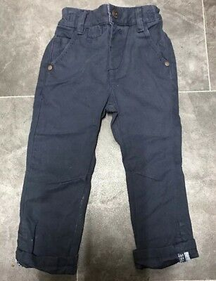 Next Baby Boys Navy Blue Chino Style Trousers. Age 12-18 Months