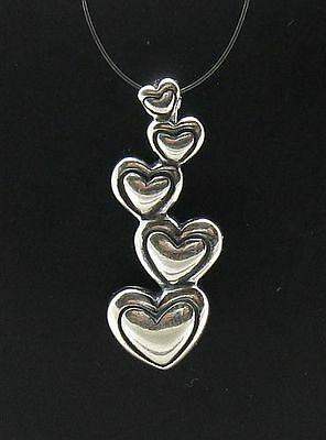 Sterling Silver Pendant Charm Heart 925 New Solid Pe000121 Empress