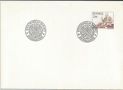 SWEDEN - 1977 Tailor   - FIRST DAY COVER