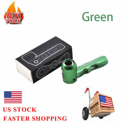 Portable Prometheus Smoking Pipe Magnetic Metal Tobacco Accessories(Green)