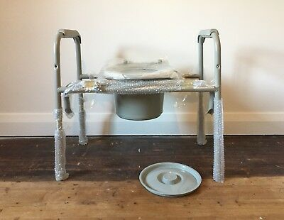 Bariatric commode chair 270kg load height adjustable over toilet NEW Ryde NSW