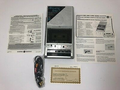 Vtg General Electric Tape Cassette Recorder GE Mod.3-5157A NEW IN BOX NEVER USED