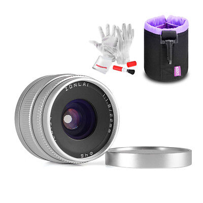 Zonlai 22mm f1.8 Ultra Wide Angle Lens ForFuji X-mount Mirrorless+ Lens Pouch