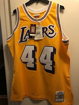 JERRY WEST AUTHENTIC Mitchell   Ness Jersey size 52 LAKERS -  60.00 ... b3d1d9ea1