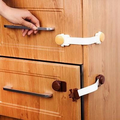 Child Baby Cupboard Cabinet Safety Locks Proofing Door Drawer Fridge Kids LC