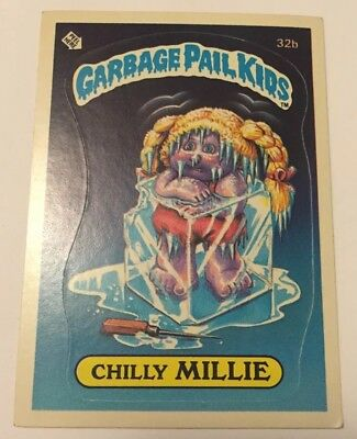 Garbage Pail Kids Chilly Millie # 32b Used