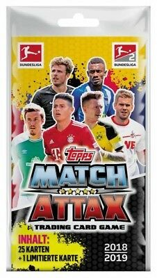 Match Attax Blister Pack 18 / 19 - 4 Booster + 1 limitierte Fussball Spiel Karte