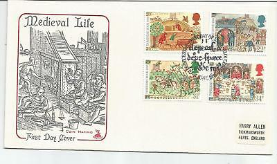 Gb Fdc 1986 Medieval Life-Mercury Cover