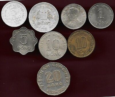 Viet nam lot of 8 coins
