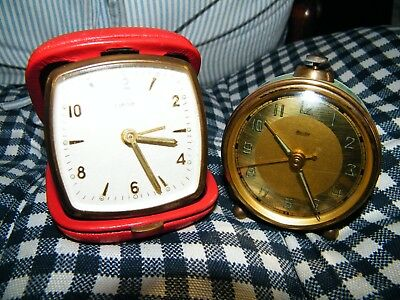 2 Vintage Alarm Clocks For Spares And Repairs
