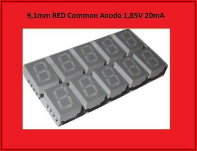 HDSP-C3A1 LED Display Anzeige 7 Segment 1 Digit Common Anode Rot  10x