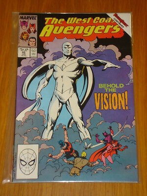 West Coast Avengers #45 Vol 1 Comic 1St New Vision June 1989