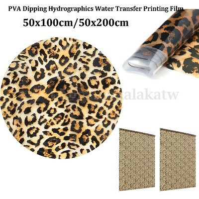 Hydrographic Water Transfer Hydro Dipping Dip Film Leopard Carbon Fiber Print 2M