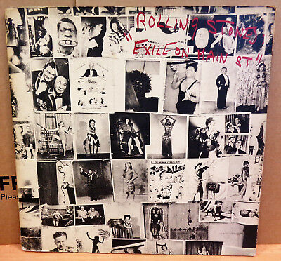 The Rolling Stones Exile On Main St Og Uk Rstone Dbl Lp Gatefold + Cards Clip!