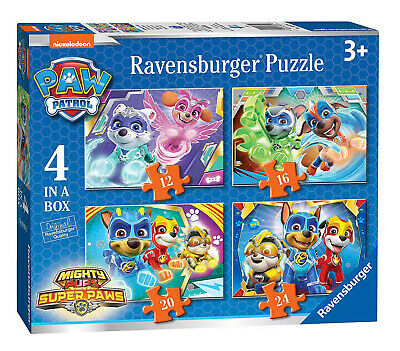 Paw Patrol Jigsaw Puzzle 4 in 1 Ravensburger 12/16/20/24 Pieces Christmas Gift