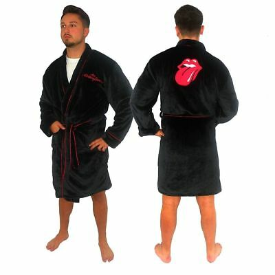 Rolling Stones Rock Band Tongue Fleece Bathrobe Dressing Gown