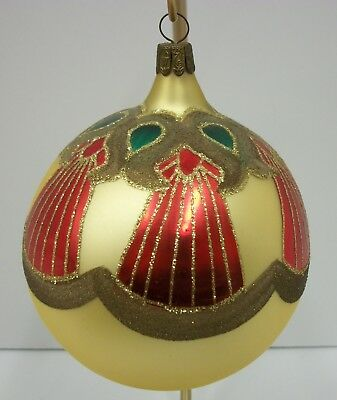 Waterford Holiday Heirlooms Blown Glass Hand Painted Large Christmas Ornament