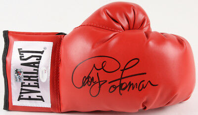 George Foreman Signed Everlast Boxing Glove JSA & Foreman Hologram
