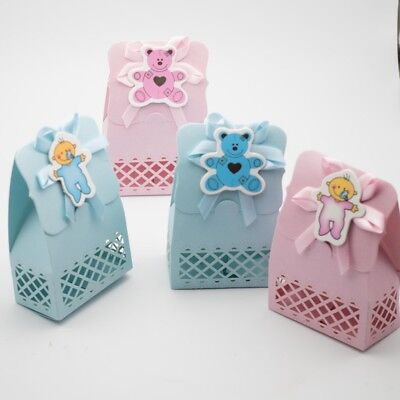 12pcs Baby Shower Favour Candy Box Christening Gift Baptism Birthday Party Decor