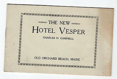 1913 The New Hotel Vesper, Old Orchard Beach, Maine