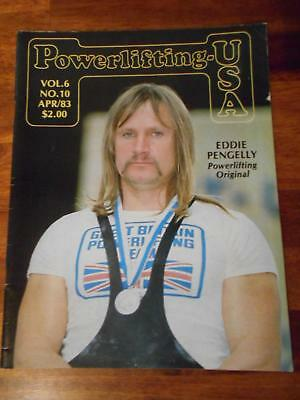 Powerlifting USA Muscle Strongman Culturismo Revista Eddie Pengelly 4-83