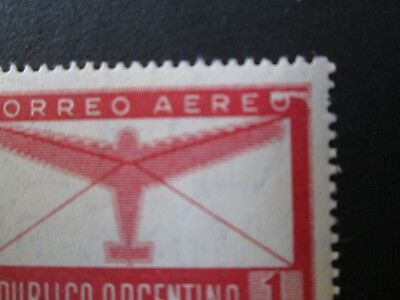 """Argentina  Correo Aereo 861  pare  with error """" O with ascen """"!! views pictures"""