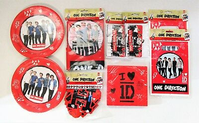 One Direction Party Tableware and Decoration Pack for 16 People - 1D Plates etc