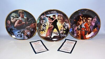 (MA4)  Hamilton Collection STAR WARS Trilogy Collector 3 Plate Set