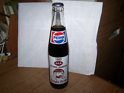 Pepsi Cola Soda Bottle Southern Illinois University Salukis National Champions