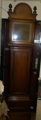 Very Nice Antique Oak Grandfather Clock Case To Fit 11ins Dial