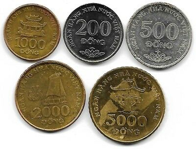 Viet Nam 2003 lot of 5 coins
