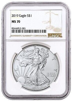 2019 1oz Silver American Eagle NGC MS70 Brown Label - In Stock