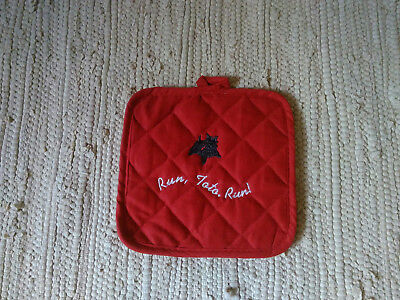Cairn Terrier Red Wizard of Oz Quilted Potholder Run Toto