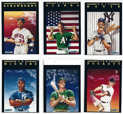 RARE 1991 Fleer Pro Visions MISCUT ERROR Cards ** Pick Your Player ** Baseball