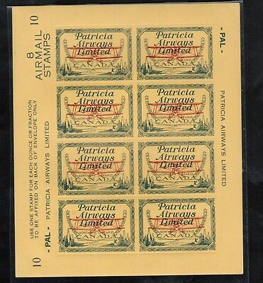 Canada #CL43 Very Fine Mint Full Plate Pane Of Eight All Stamps Never Hinged