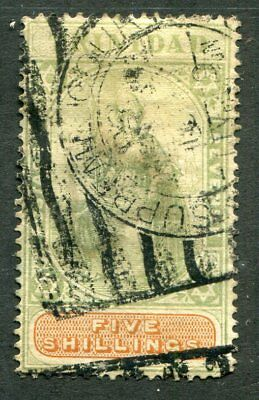 TRINIDAD 87  Very  Nice  Used  FIVE SHILLINGS Issue  UPTOWN 46760