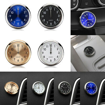 Mini Luminous Auto Car Air Vent Clip Clock Interior Quartz Analog Watch Decor
