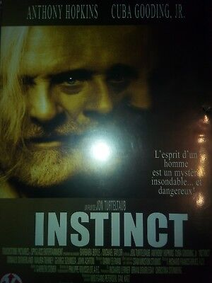 DVD INSTINCT de JON TURTELTAUB avec ANTHONY HOPKINS, CUBA GOODING Jr