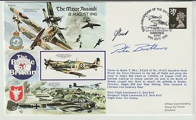 Raf Souvenir Cover Signed Air Commodore Pete Brothers Cbe Dso Dfc