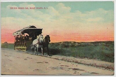 BLOCK ISLAND, RI - The Old Horse Car