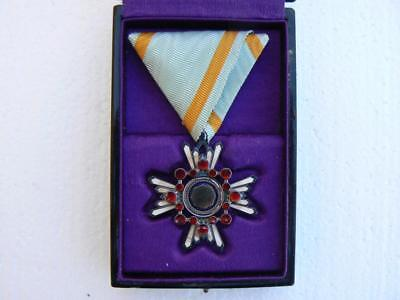 WW2 era cased Japanese Order of the Sacred Treasure Medal, 6th Class