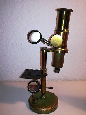 Antikes Mikroskop ca. 1880 - 1900, antique microscope Medizin Optiker