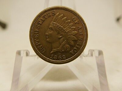 1862 US Indian Head Cent Extra Fine
