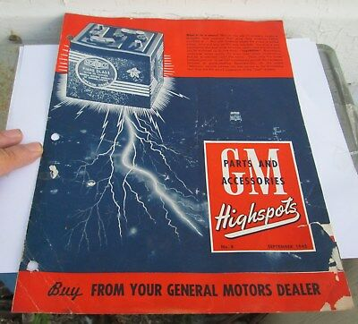 Scarce Sept 1945 Gm Highspots General Motors Of Canada Parts Brochure  Original
