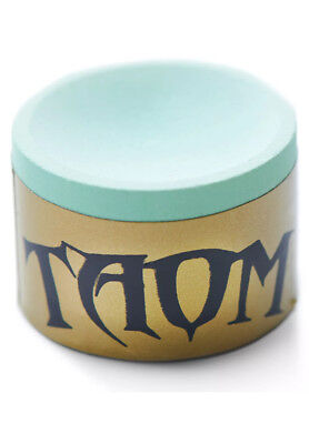 """Taom """"SOFT"""" GOLD WRAP Snooker/Pool Chalk, Light Green, FREE 1ST CLASS DELIVERY!!"""