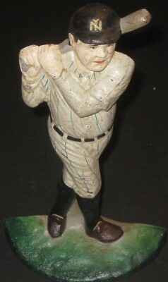 Babe Ruth Cast Iron Door Stop Vintage Antique Collectible Metalware-NY Yankees