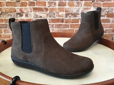 e8554304ddb7d Clarks Dark Taupe Brown Leather Medora Grace Chelsea Ankle Boot 6.5 W NEW