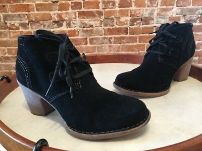 6eac421a618 CLARKS ARTISAN BLACK Leather Carleta Crane Lace-Up Ankle Boot 8.5 ...